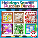 CRITICAL THINKING PUZZLES BUNDLE Holidays Brain Teasers Differentiation GATE