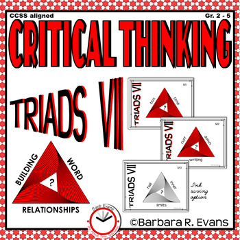 CRITICAL THINKING with TRIADS BUNDLE 3.0