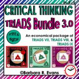 CRITICAL THINKING BUNDLE Triads 3.0 Activity Vocabulary Literacy Center