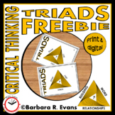 CRITICAL THINKING with TRIADS FREEBIE Word Relationships Vocabulary HOTS GATE