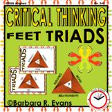 CRITICAL THINKING with TRIADS: Feet Triads, Vocabulary, H.