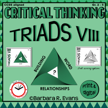 CRITICAL THINKING with TRIADS VIII
