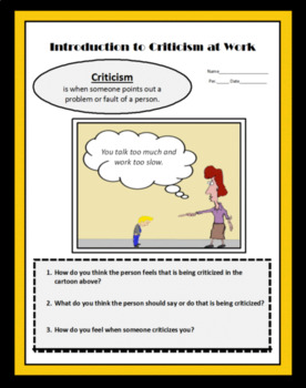 Employment, CRITICISM AT WORK, Career Readiness, Careers, Vocational,