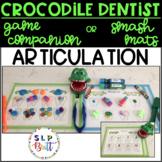 CROCODILE DENTIST ARTICULATION, GAME COMPANION OR SMASH/ACTIVITY MATS