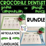 CROCODILE DENTIST BUNDLE, GAME COMPANION OR SMASH MATS (ARTICULATION & LANGUAGE)
