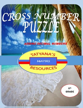 CROSS NUMBER PUZZLE - Adding Decimal Numbers