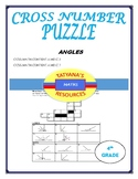 CROSS NUMBER PUZZLE - Angles