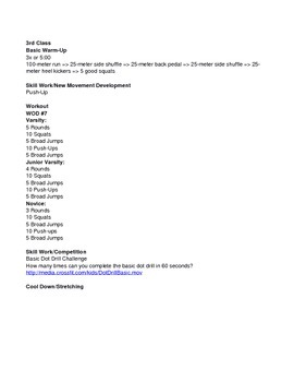 CROSSFIT ENTIRE UNIT WITH SKILLS AND WOD's