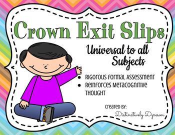CROWN Exit Tickets