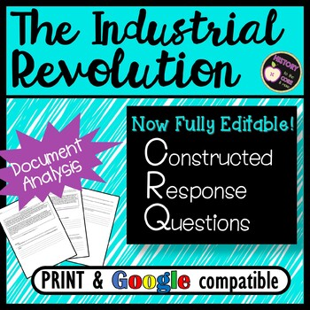 CRQ- Industrial Revolution- Short Answer Practice- New Global Regents