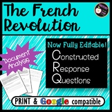 CRQ- The French Revolution- New NYS Global Regents