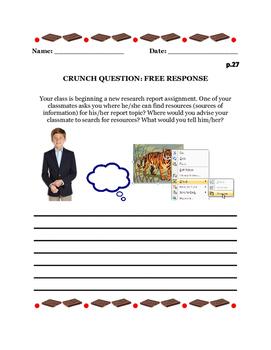 C.R.U.N.C.H.  Report Writing Assignments & Worksheets CCSS.ELA-Literacy.W.5.2