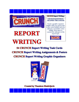 C.R.U.N.C.H. Report Writing Bundle (Includes 54 Task Cards) ELA-Literacy.W.5.2