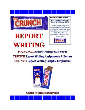 C.R.U.N.C.H. Report Writing Bundle (Includes 54 Task Cards) ELA-Literacy.W.5.2