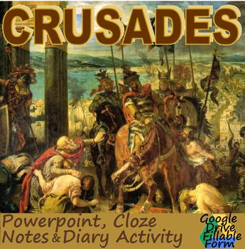 CRUSADES: powerpoint, activity, & cloze notes sheet