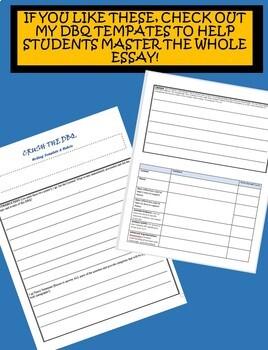 CRUSH the DBQ Practice Sheets: Progressive Era