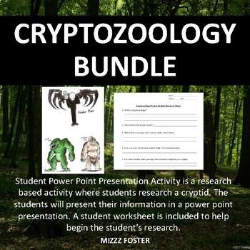 CRYPTOZOOLOGY BUNDLE: Dichotomous Key and Student Presentation