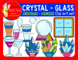 CRYSTAL - GLASS  -  CRISTALES  CLIPART SET.
