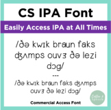 CS Coffee & Speech IPA Font | Commercial Access License