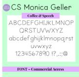 CS Monica Geller Font - Commercial Access License
