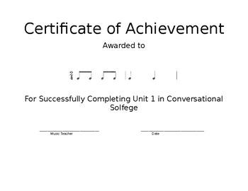 CS Unit 1 Award Certificate