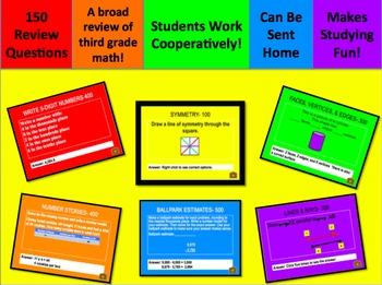 TCAP & CSAP Math Jeopardy Review Games Third Grade