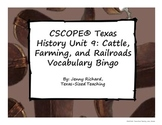 Texas History Unit 9: Cattle, Farming, & Railroads Vocab Bingo