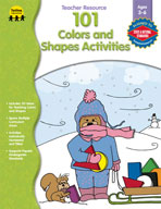 101 Colors and Shapes Activities, PK-K