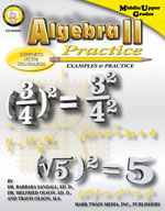 Algebra II Practice Book by Mark Twain Media
