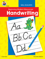 Beginning Modern Manuscript Handwriting Skill Builder