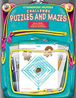Challenge Puzzles And Mazes, Grade 3