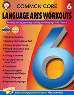 Common Core Language Arts Workouts, Grade 6 (ebook)