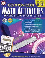 Common Core Math Activities, Grades 6–8 (ebook)