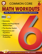 Common Core: Math Workouts (Gr. 6)