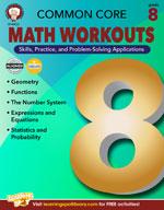 Common Core: Math Workouts (Gr. 8)
