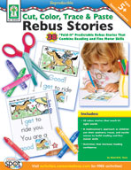 Cut, Color, Trace & Paste Rebus Stories