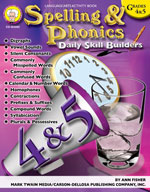 Daily Skill Builders: Spelling and Phonics: Grades 4-5 by Mark Twain Media