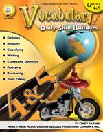 Daily Skill Builders: Vocabulary: Grades 4-5 by Mark Twain Media