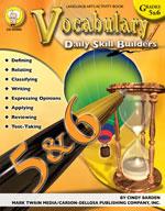 Daily Skill Builders: Vocabulary: Grades 5-6 by Mark Twain Media