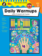 Daily Warmups Math Problems, Grade 1