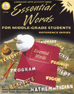 Essential Words for Middle-Grade Students by Mark Twain Media
