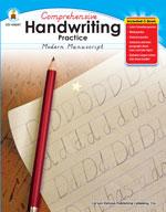 Handwriting Practice: Modern Manuscript, Grades K-1