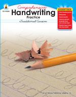 Handwriting Practice: Traditional Cursive, Grades 2-5