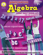 Jumpstarters for Algebra by Mark Twain Media