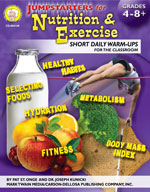 Jumpstarters for Nutrition and Exercise by Mark Twain Media