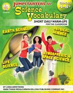 Jumpstarters for Science Vocabulary by Mark Twain Media