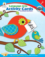Language Arts Activity Cards for School and Home, Grade 1