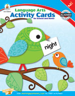 Language Arts Activity Cards for School and Home, Grade 2