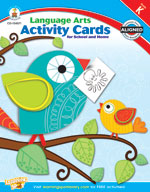 Language Arts Activity Cards for School and Home Kindergarten