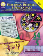 Math Activity Book - Fractions, Decimals & Percentages Gra